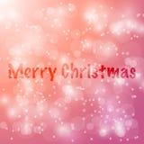 Fundo do borrão do bokeh do sumário do vetor do Feliz Natal festive ilustração stock