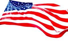 Fundo do branco da bandeira americana imagens de stock