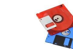 3 fundo do branco da disquete 5-inch Foto de Stock