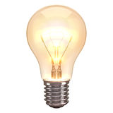 Fundo do branco da queimadura da lâmpada Foto de Stock