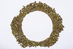 Fundo do branco do feijão de Mung Imagem de Stock Royalty Free