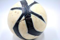 Fundo do branco do futebol fotos de stock