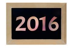 fundo do branco do isolado do quadro da foto da madeira do ano 2016 do  do ¹ do à Fotos de Stock Royalty Free