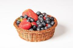 Fundo do branco do iwith de Fruitsbasket Fotografia de Stock