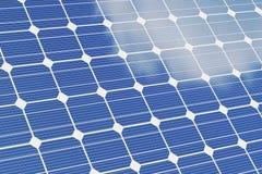 Fundo do branco do OM dos painéis solares Painéis solares azuis Energia alternativa do conceito ilustração 3D Foto de Stock Royalty Free