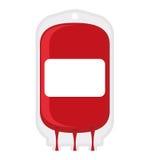 Fundo do branco do saco da doação de sangue Transfusão do sangue médico Fotos de Stock Royalty Free