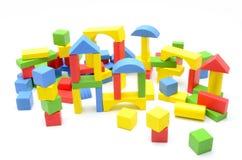 Fundo do branco dos blocos das crianças imagens de stock