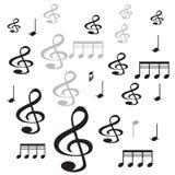 Fundo do branco do ith da nota da música ilustração royalty free