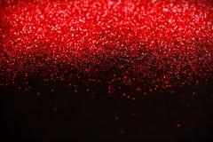Fundo do brilho do vermelho e do preto O feriado, o Natal, os Valentim, a beleza e os pregos abstraem a textura Fotos de Stock