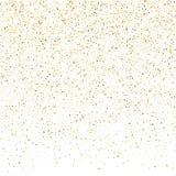 Fundo do brilho do vetor Pontos dourados de queda pequenos bonitos faísca Imagens de Stock