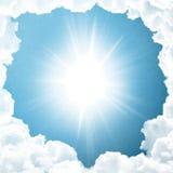 Fundo do céu azul Foto de Stock