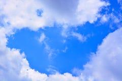 Fundo do céu azul e das nuvens Fotos de Stock Royalty Free