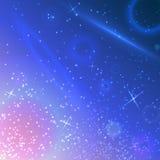Fundo do céu do espaço de vetor Imagens de Stock Royalty Free