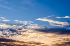 Fundo do céu do por do sol fotos de stock