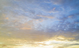 Fundo do céu do por do sol Fotos de Stock Royalty Free