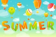 Fundo do céu do verão Fotografia de Stock
