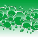 Fundo do círculo verde Fotografia de Stock Royalty Free