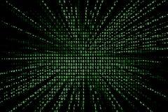 Fundo do código binário Foto de Stock