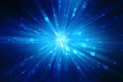 Fundo do código binário, fundo abstrato da tecnologia de Digitas, o melhor conceito do Internet do negócio global ilustração stock