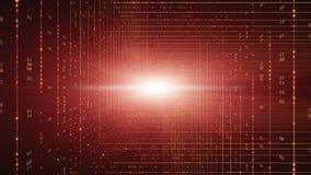 Fundo do código binário Cloud Computing, IOT e de AI da inteligência artificial conceito ilustração royalty free