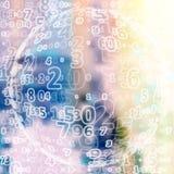 Fundo do código de Digitas Imagem de Stock