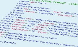 Fundo do código do HTML do Web Foto de Stock
