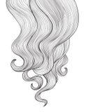 Fundo do cabelo Projeto do quadro do salão de beleza do cabeleireiro do esboço Fotos de Stock