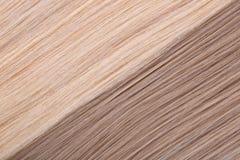 Fundo do cabelo reto. Cabelo louro escuro e leve Fotos de Stock