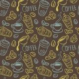 Fundo do café ilustração royalty free