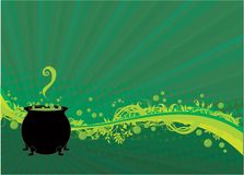 Fundo do caldeirão de Halloween Foto de Stock Royalty Free