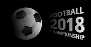 Fundo 2018 do campeonato do futebol com bola de futebol Ilustração do Vetor