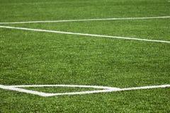 Fundo do campo de ação do futebol Imagens de Stock