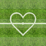 Fundo do campo de grama do futebol do amor Foto de Stock