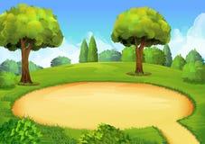 Fundo do campo de jogos do parque ilustração stock