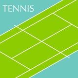 Fundo do campo de tênis Imagem de Stock Royalty Free