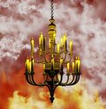 Fundo do candelabro ilustração royalty free