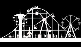 Fundo do carnaval na silhueta ilustração do vetor