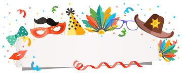Fundo do carnaval no estilo da cabine da foto ilustração royalty free