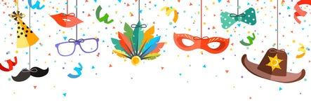 Fundo do carnaval no estilo da cabine da foto ilustração stock