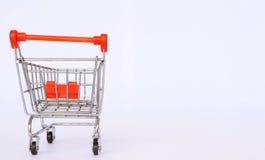 Fundo do carrinho de compras Imagem de Stock Royalty Free