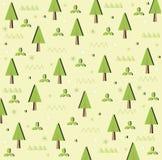 Fundo do cartão da floresta das árvores Fotografia de Stock Royalty Free