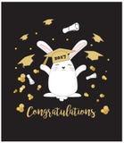fundo do cartão da graduação Fotografia de Stock