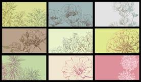 Fundo do cartão de desenho da mão ilustração stock