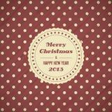 Fundo do cartão de Natal do vintage Fotos de Stock