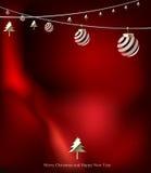 Fundo do cartão de Natal Ilustração do vetor Fotografia de Stock