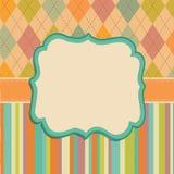 Fundo do cartão do convite, testes padrões do quadro da beira Imagens de Stock