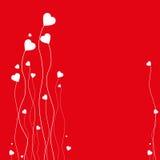 Fundo do cartão do coração Imagens de Stock