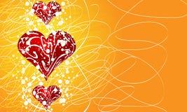 Fundo do cartão do Valentim ilustração royalty free
