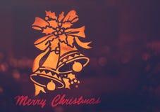 Fundo do cartão do Feliz Natal ilustração royalty free