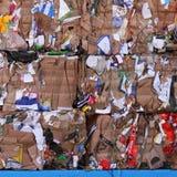 Fundo do cartão para recicl Fotografia de Stock